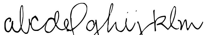 Pea Steph Font LOWERCASE