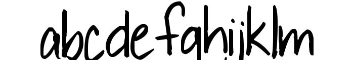 Pea Sue's Print Font LOWERCASE