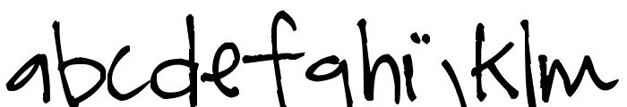 Pea Tara Font LOWERCASE