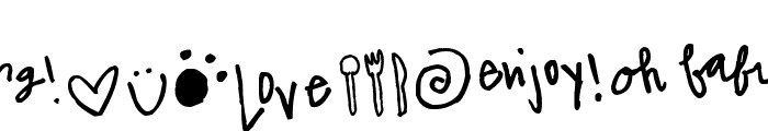Pea The Bees In Love Doodles Font LOWERCASE