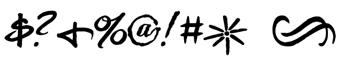 Pea Thinksilver Font OTHER CHARS