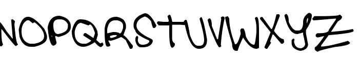 Pea Tisha Font UPPERCASE