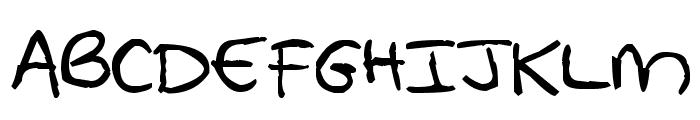 Pea Whinney Skinney Font UPPERCASE