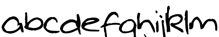 Pea Whinney Skinney Font LOWERCASE