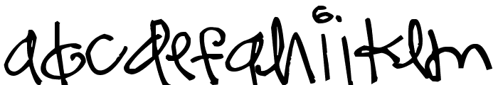 Pea kevinandamanda Funky Font LOWERCASE