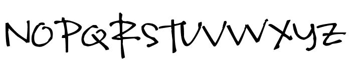 Pea kevinandamanda Handwriting Font UPPERCASE