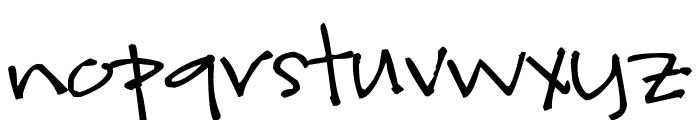 Pea kevinandamanda Handwriting Font LOWERCASE
