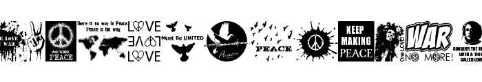 Peace FOREVER Font LOWERCASE