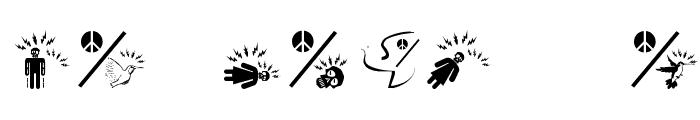 PeaceThruGuns Font OTHER CHARS