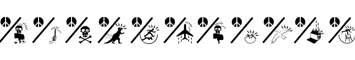 PeaceThruGuns Font UPPERCASE