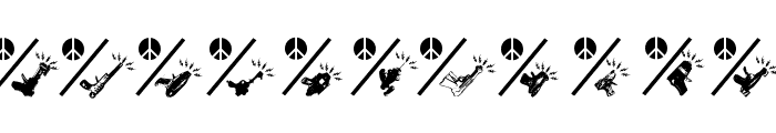 PeaceThruGuns Font LOWERCASE