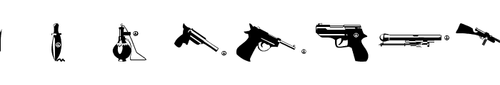 PeaceWeapons Font OTHER CHARS