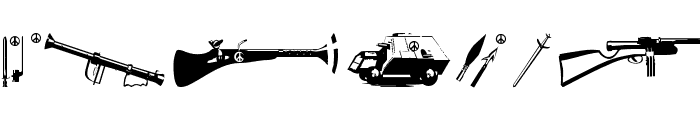 PeaceWeapons Font UPPERCASE