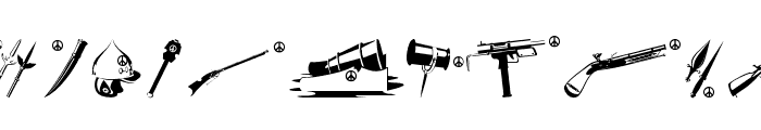 PeaceWeapons Font LOWERCASE