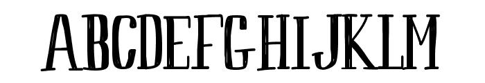 Peach Font UPPERCASE