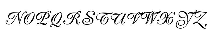 PeachExquisiteOpti-Bold Font UPPERCASE