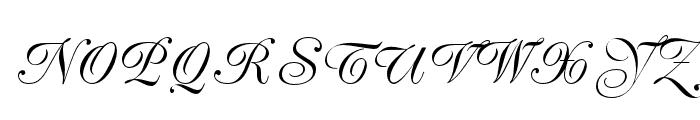 PeachExquisiteOpti-Light Font UPPERCASE