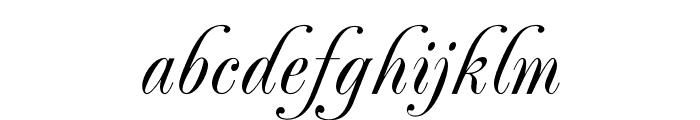 PeachExquisiteOpti-Light Font LOWERCASE