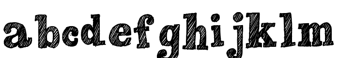 Peaches en Regalia Font LOWERCASE