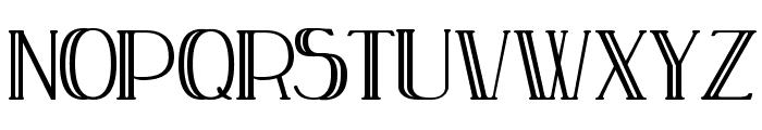 Peake Doubled Font UPPERCASE