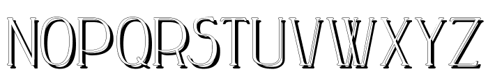 Peake-Shadow Font UPPERCASE