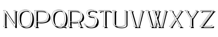 Peake-Shadow Font LOWERCASE