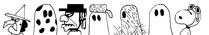 Peanuts Gang Dings Font LOWERCASE