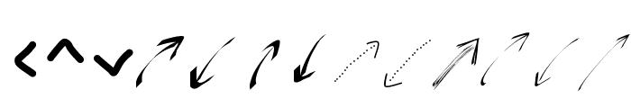 PeaxWebdesignarrows Font LOWERCASE