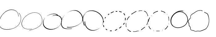 PeaxWebdesigncircles Font OTHER CHARS