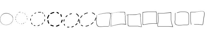 PeaxWebdesigncircles Font UPPERCASE