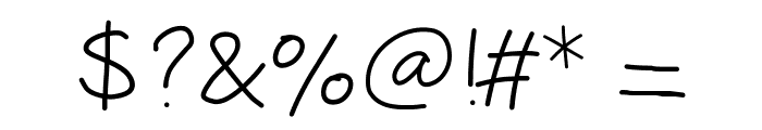 Peaxhandwritinglight Font OTHER CHARS