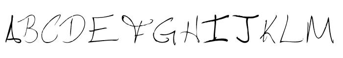Pebbles handwrite Font UPPERCASE
