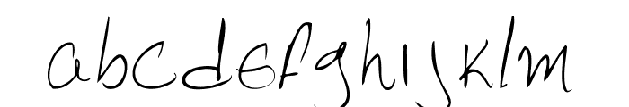 Pebbles handwrite Font LOWERCASE