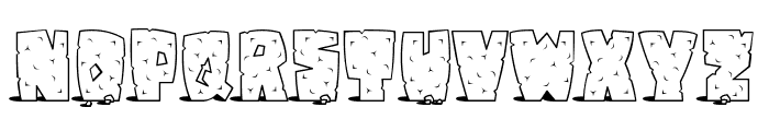 Pebbles Font UPPERCASE