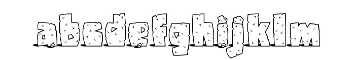 Pebbles Font LOWERCASE