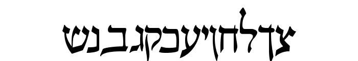 Pecan_ Sonc_ Hebrew Font LOWERCASE
