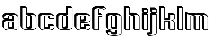 Pecot Anical Font LOWERCASE