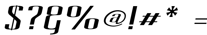 Pecot Oblique Font OTHER CHARS