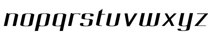 Pecot Oblique Font LOWERCASE