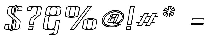 Pecot Outline Oblique Font OTHER CHARS