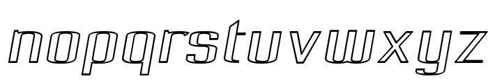 Pecot Outline Oblique Font LOWERCASE