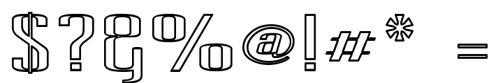 Pecot Outline Font OTHER CHARS