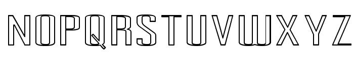 Pecot Outline Font UPPERCASE