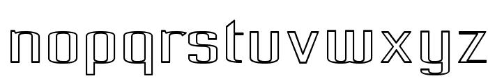 Pecot Outline Font LOWERCASE
