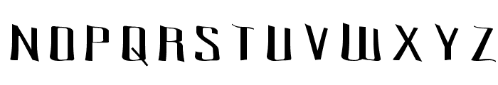Pecot Spacewarp Font UPPERCASE