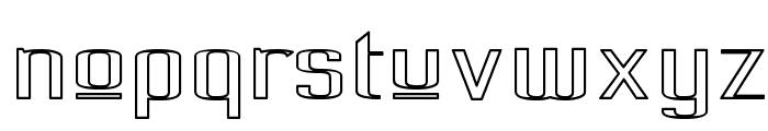 Pecot Upper Outline Font LOWERCASE