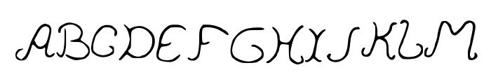 PedersenFont Medium Font UPPERCASE