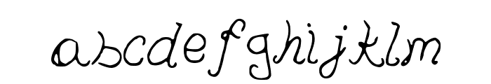 PedersenFont Medium Font LOWERCASE