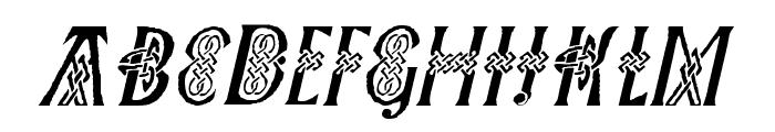 Pee's Celtic Italic Font UPPERCASE