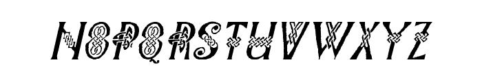 Pee's Celtic Italic Font LOWERCASE